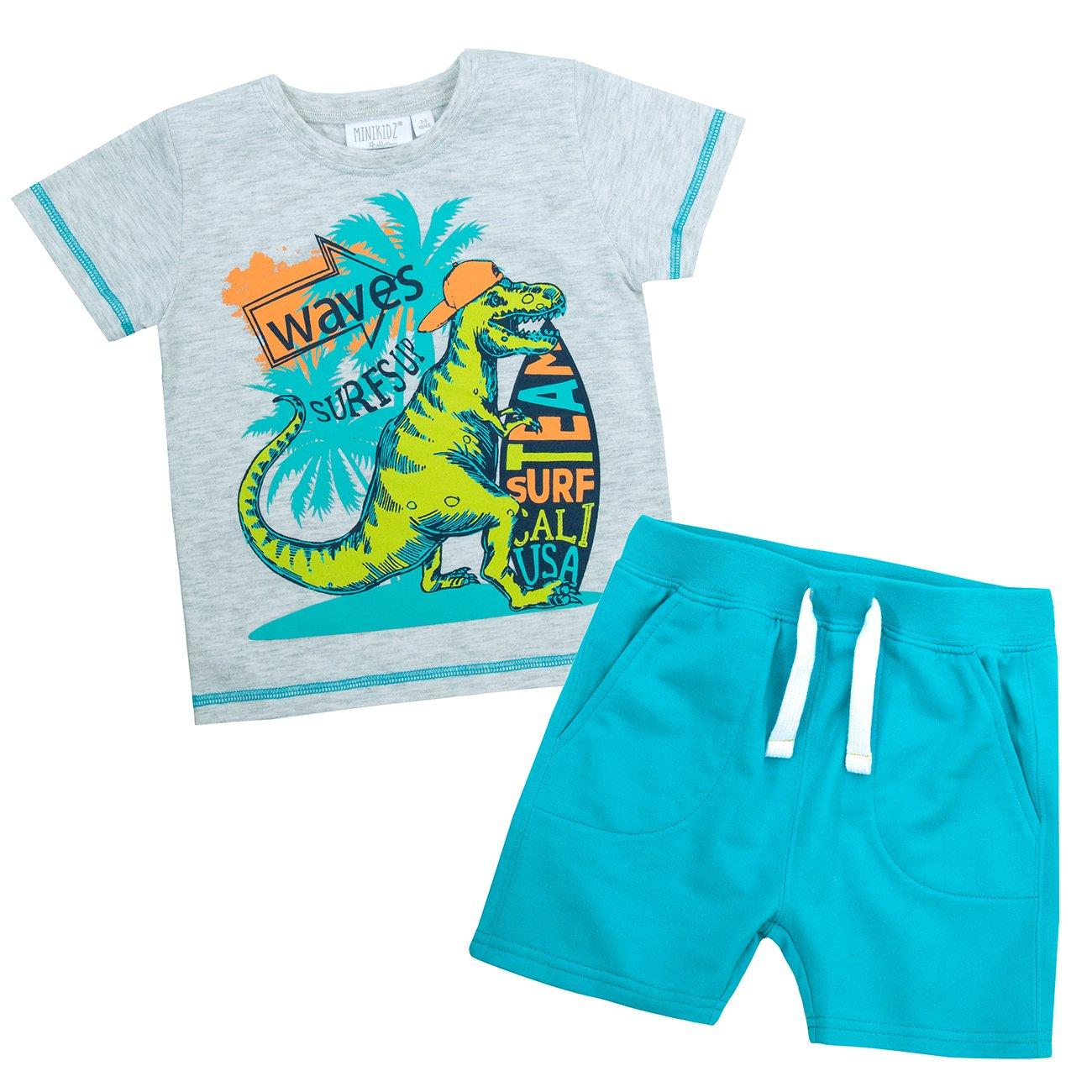 f7defc871 Infant Boys Tshirt Shorts Dinosaur Outfit Summer Set  Amazon.co.uk ...