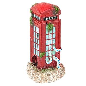 Cabina de Teléfono para Decoración de Acuario o Pecera - Pequeña