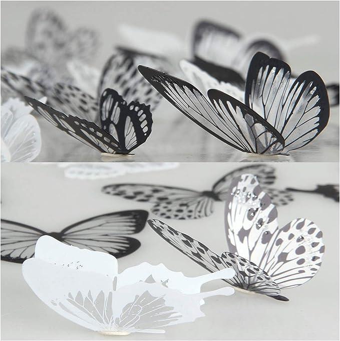 3d farfalla resina appeso a parete ornamento adesivo murale art decalcomania
