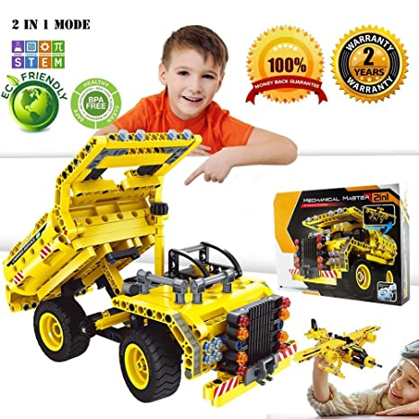 tuiy building blocks set stem toy 361pcs engineering bricks construction kit educational building dump