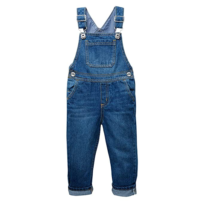 OFFCORSS Indigo Toddler 5T Bib Overalls Boys Kids Baby Clothes Overoles para Niños best boys' overalls