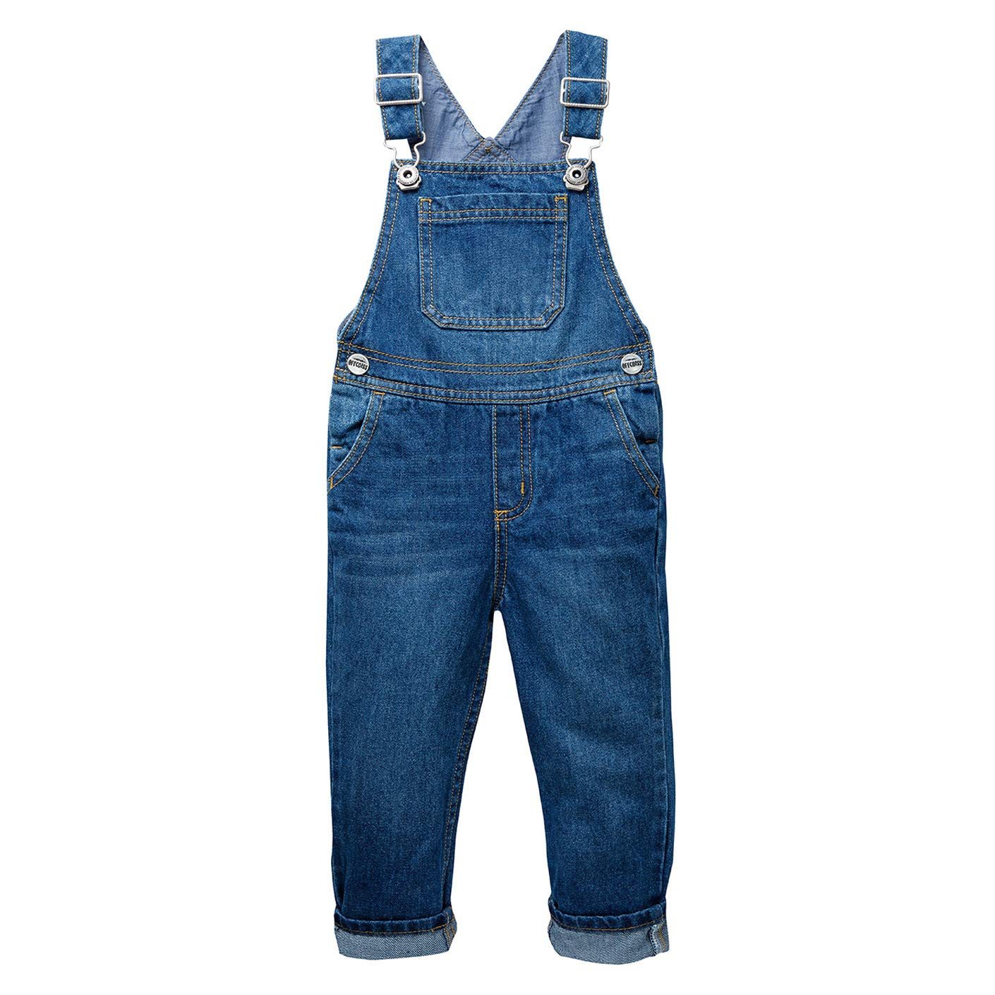OFFCORSS Indigo Toddler 4T Bib Overalls Boys Kids Dungarees Overoles para Niños