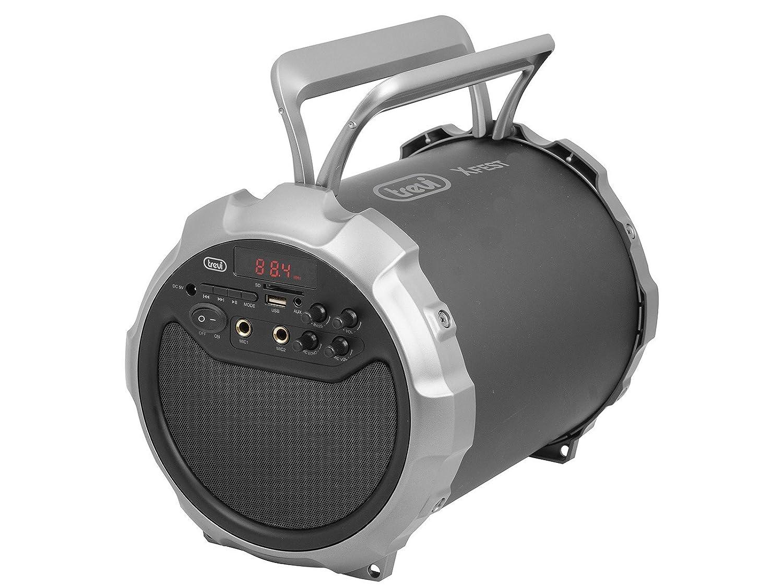 Trevi XF 300 Portátil Alámbrico Sistema de - Karaoke (15 W, Alámbrico, LED, Rojo, Giratorio, 310 mm): Amazon.es: Electrónica