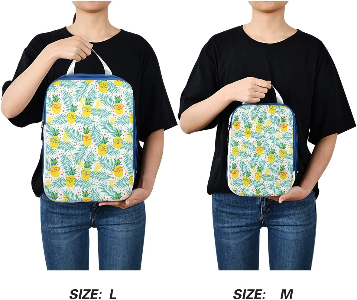 Cute Pineapples 3 Set Packing Cubes,2 Various Sizes Travel Luggage Packing Organizers p2