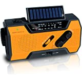 NOAA Weather Alert Radio | Solar Emergency Survival Device with AM/FM Transmission | Windup Power for Emergencies, Tornadoes, Hurricanes | Micro USB Charger and Power Bank for Cell Phones and Electron