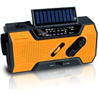 $42 Get NOAA Weather Radio | Solar Emergency Survival Device with AM/FM Transmission | Windup Power…