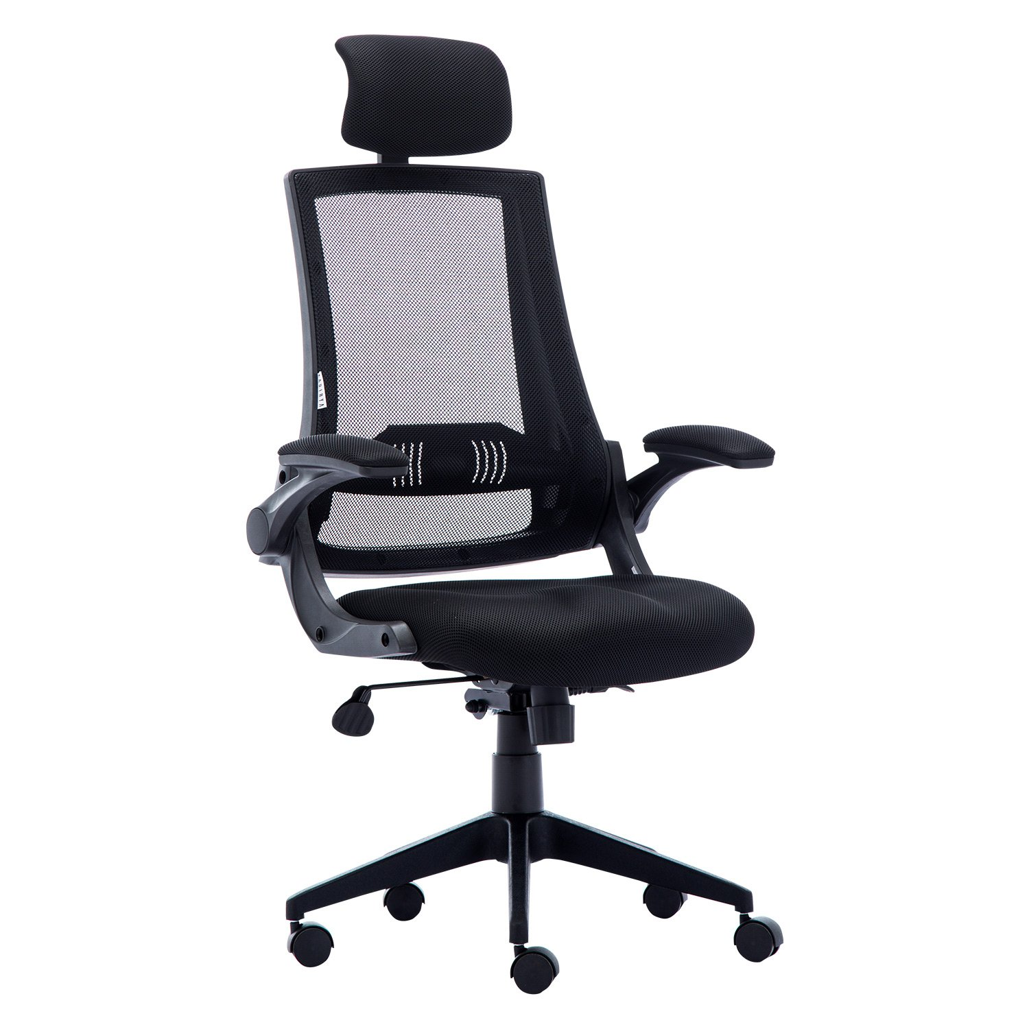 LCH Ergonomic High Back Mesh Office Chair with Ajustable Arms, Computer Desk Task Executive Chair-Black(BIFMA Certified)