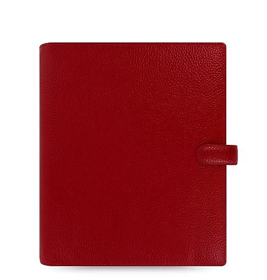 Filofax Fisnbury - Archivador de anillas para agenda (piel, A5), color granate