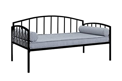 Amazon.com: DHP Ava Metal Daybed Frame with Round Arm Design, Twin ...