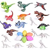 25 PCs Building Block Dinosaur Toys Prefilled Suprise Eggs, Dinosaur Party Favors Party Supplies,Dinosaur Eggs, Goodie…