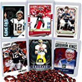 Tom Brady Football Card Bundle, Set of 6 Assorted Tampa Bay Buccaneers New England Patriots and Michigan Wolverines…