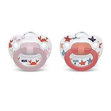 4 New In Pkg Nuby Orthodontic Nite Time Glow Pacifiers 2 Pk Orange//Blue 0-6 mos