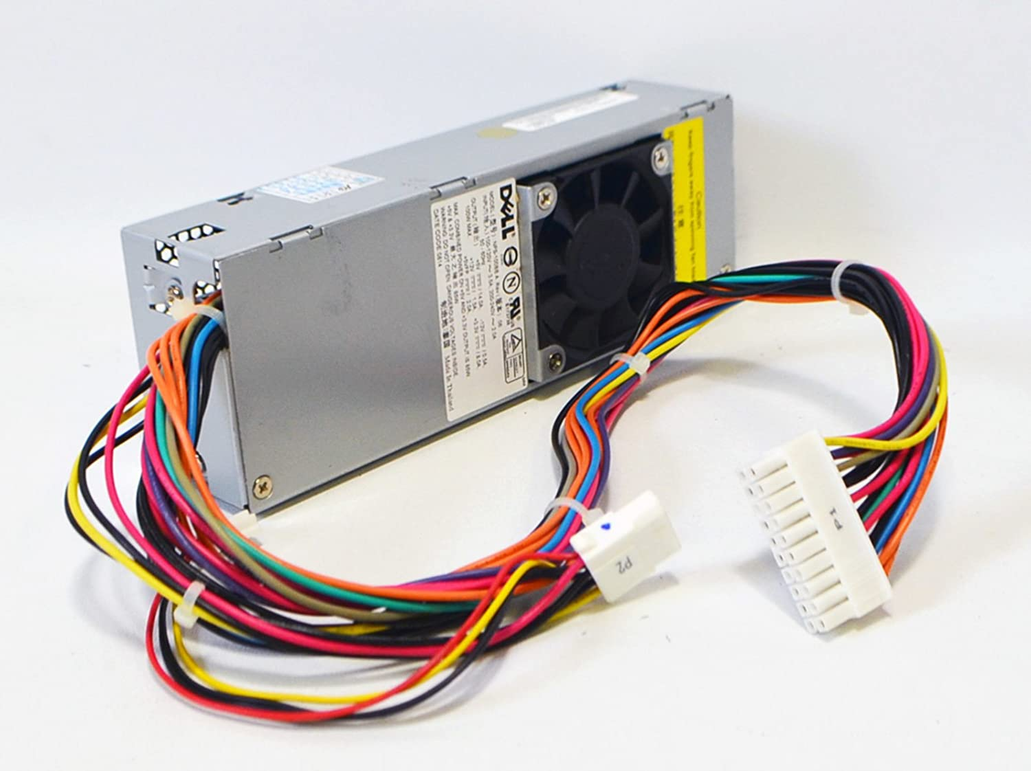 680XR New Genuine OEM Dell 100 Watt PSU Power Supply Unit NPS-100BB Optiplex GX50 GX150 Small Form Factor SFF Motherboard 20-Pin 4-Pin Molex Floppy Drive Connections Connectors Cooling Fan