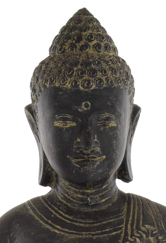 Steinfigur//Skulptur f/ür Haus und Garten korb.outlet Gro/ße Betende Buddhafigur Steinguss//stehender Steinbuddha 150cm