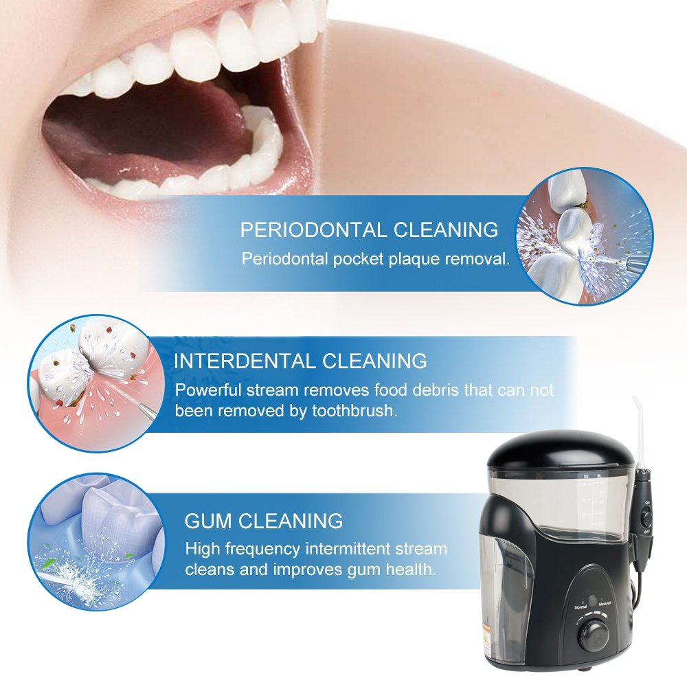 Water flosser ultra sterilizer oral irrigator family effective for improving gum health for Braces and Teeth Whitening