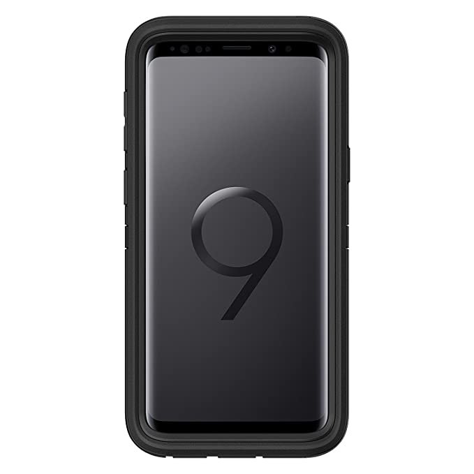 outlet store 21a28 4e2b6 OtterBox Defender Case for Samsung Galaxy S9 Black [Case only, Holster not  Included]