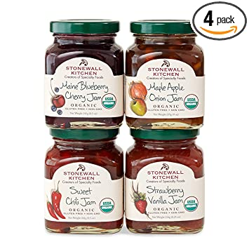 Stonewall Kitchen Our Organic Jam Collection Includes 1 Maple ...