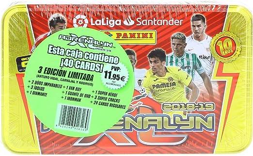 Panini 003714TINE Tin Box Adrenalyn 2018-2019: Amazon.es: Juguetes ...