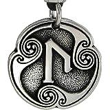 Pewter Uruz Ur Norse Viking Rune of Attainment Pendant Necklace