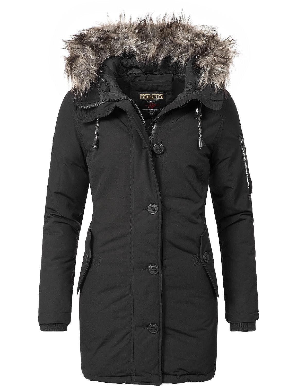 Khujo women's coat, winter coat, parka, YM-Mary - Black - X-Large:  Amazon.co.uk: Clothing