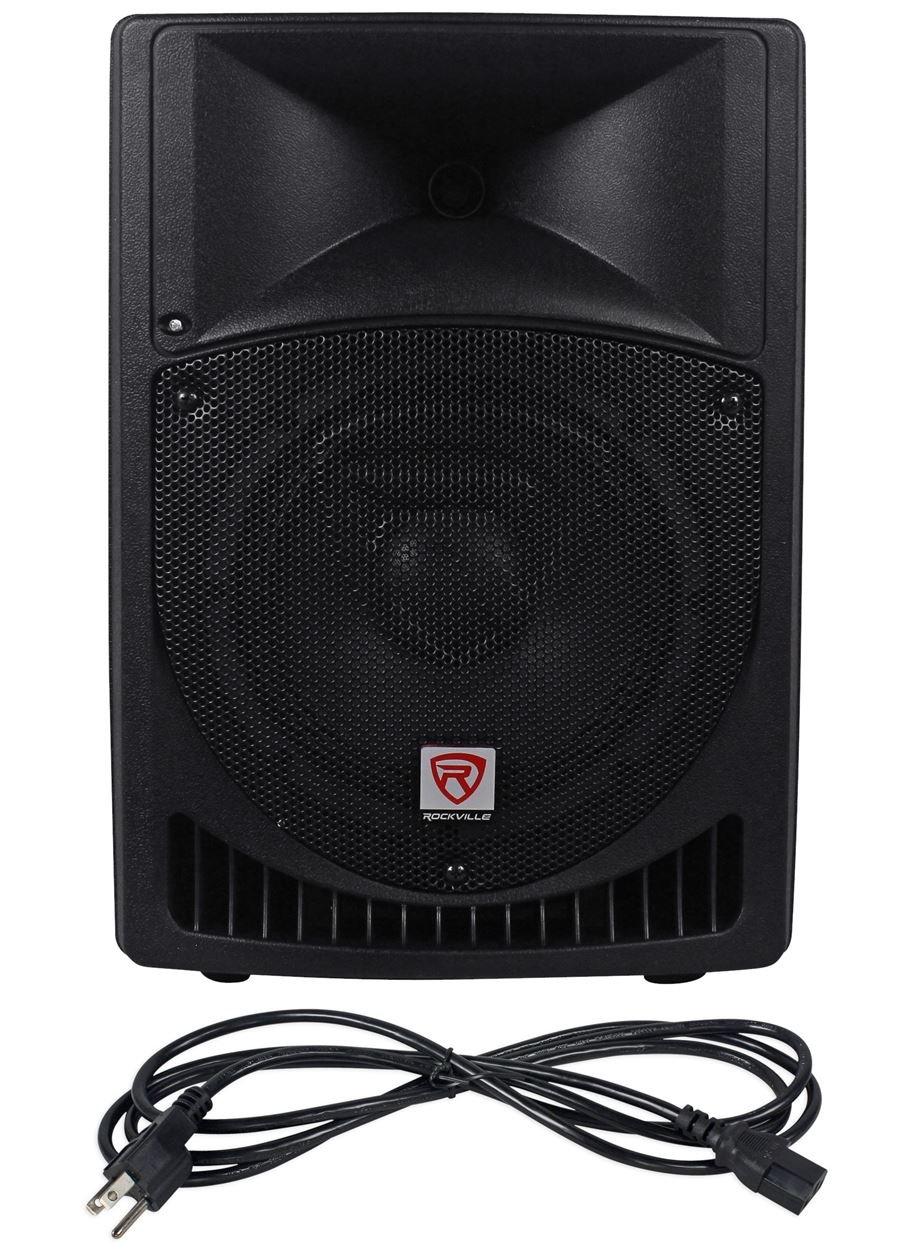 rockville rpg8 8 powered active 400 watt 2 way dj pa. Black Bedroom Furniture Sets. Home Design Ideas