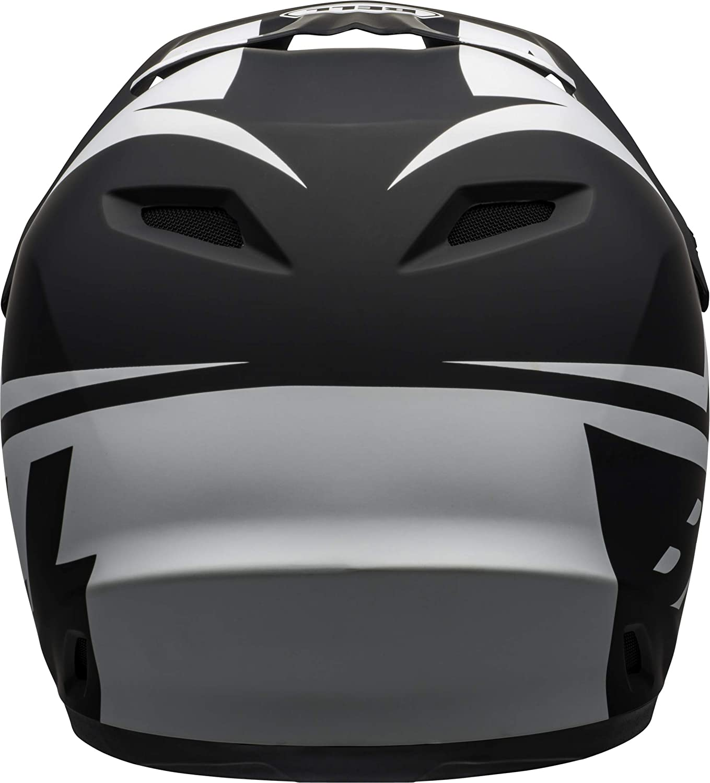 55-57 cm Medium Bell Transfer Adult Dirt Bike Helmet 2021 Slice Matte Black//White