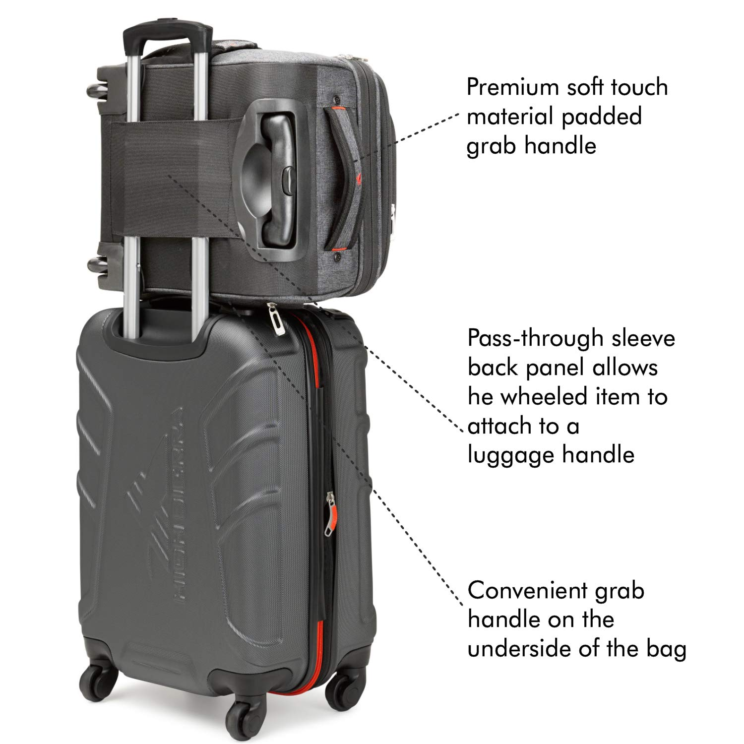 Wheeled Laptop Bag Carry-on High Sierra Endeavor Wheeled Underseat Carry-On Travelon Underseat Luggage with Wheels Underseat Wheeled Bag with Pass-Through Sleeve Perfect for Business Travelers