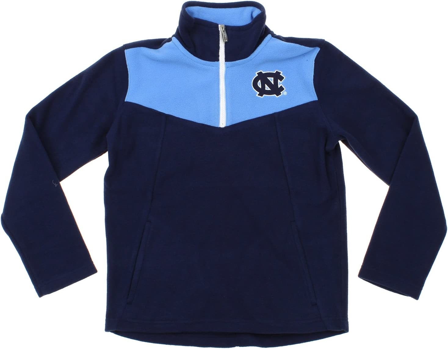 GEN North Carolina Tar Heels NCAA Youth Big Boys Break Point 1//4 Zip Pullover Sweater Navy