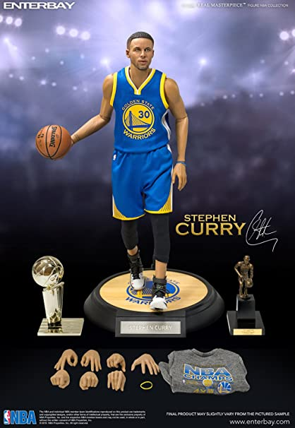 8aaf108581b2fa Amazon.com  NBA Stephen Curry 1 6 Scale Real Masterpiece Action ...