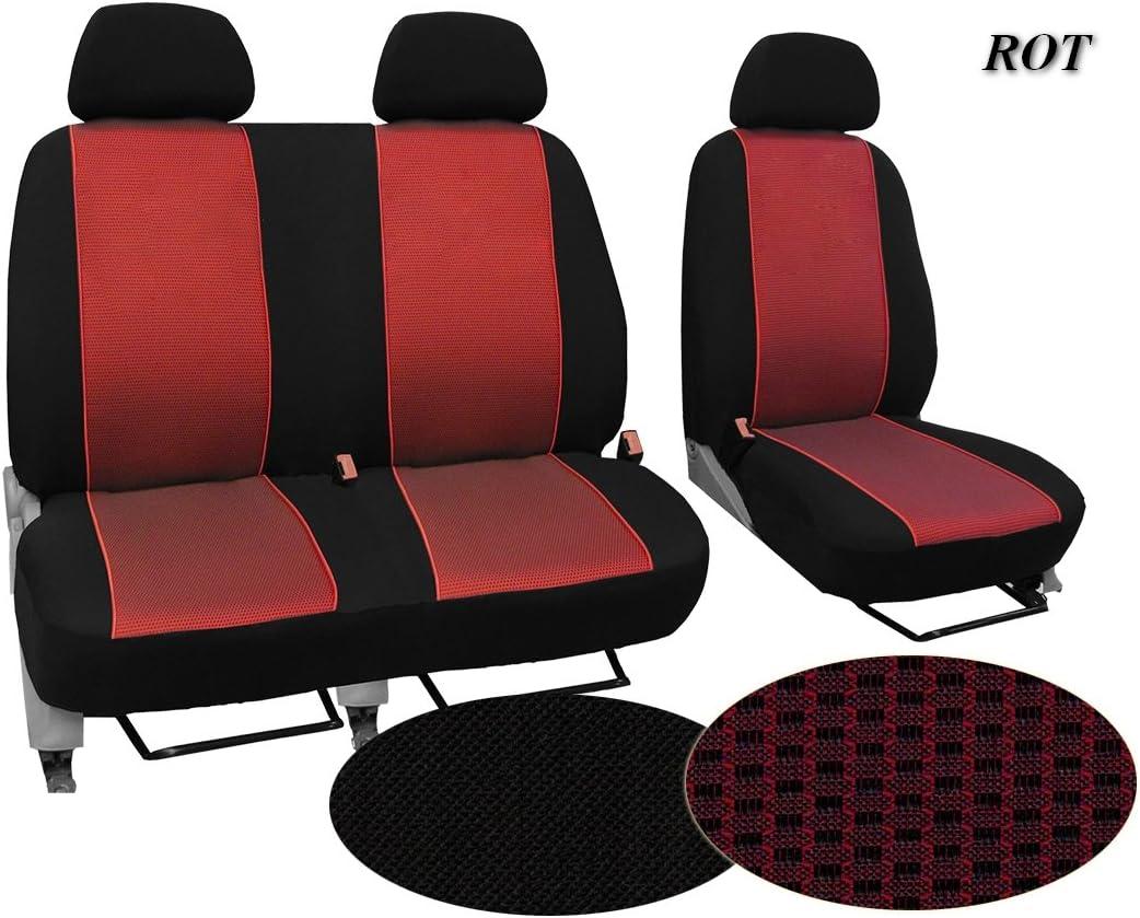 In diesem Angebot ROT 2er Beifa Komplett besteht aus: Fahrersitz Set BUS 1+2 Muster im Foto Autositzbez/üge In 3 Farben bei anderen Angeboten erh/ältlich Schonbez/üge Super Qualit/ät passend f/ür CITROEN JUMPY STOFFART VIP