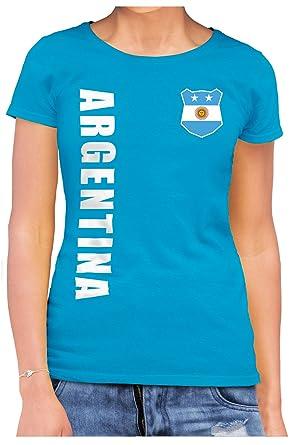 Fußball Argentinien Argentina Damen Trikot Fanshirt Top Shirt WM 2018 Name Nummer