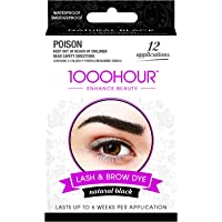 1000 HOUR Eyelash & Brow Dye Kit, Black, 72g