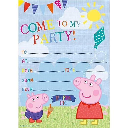 IVER5 Peppa Pig Invitaciones - Tarjetas de invitación para ...