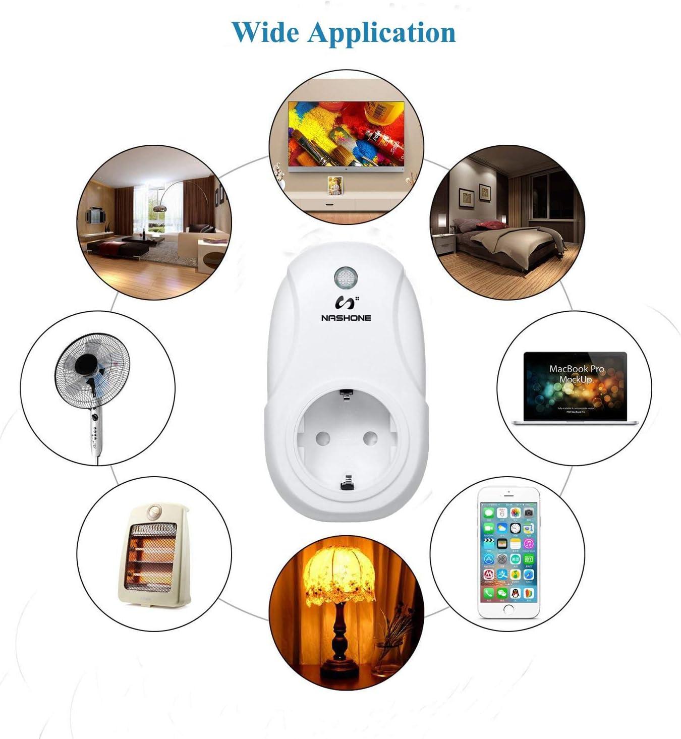 NASHONE Digital Wireless Thermostat RF Steckdose Fernbedienungs-Temperatursensor mit Heizungs- und K/ühlmodus LCD-Bildschirm mit wei/ßer Hintergrundbeleuchtung