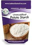 Judee's Unmodified Potato Starch (2.5 lbs) Non GMO, Dedicated Gluten & Nut Free Facility