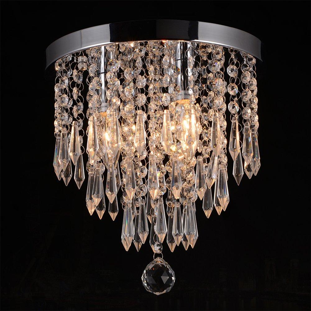 Hile Lighting KU300107 Crystal Chandeliers Flush Mount