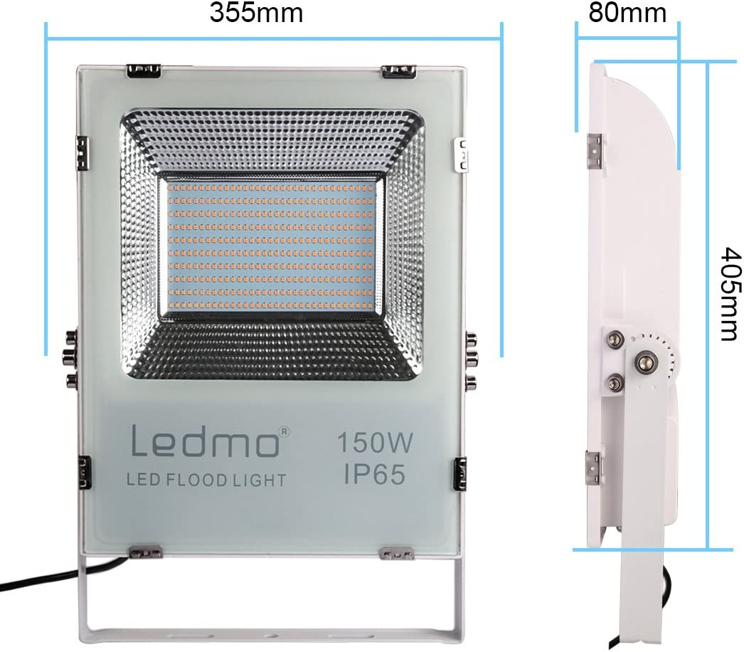 LEDMO foco led exterior 150W 12000LM SMD2835 focos led 2700K ...