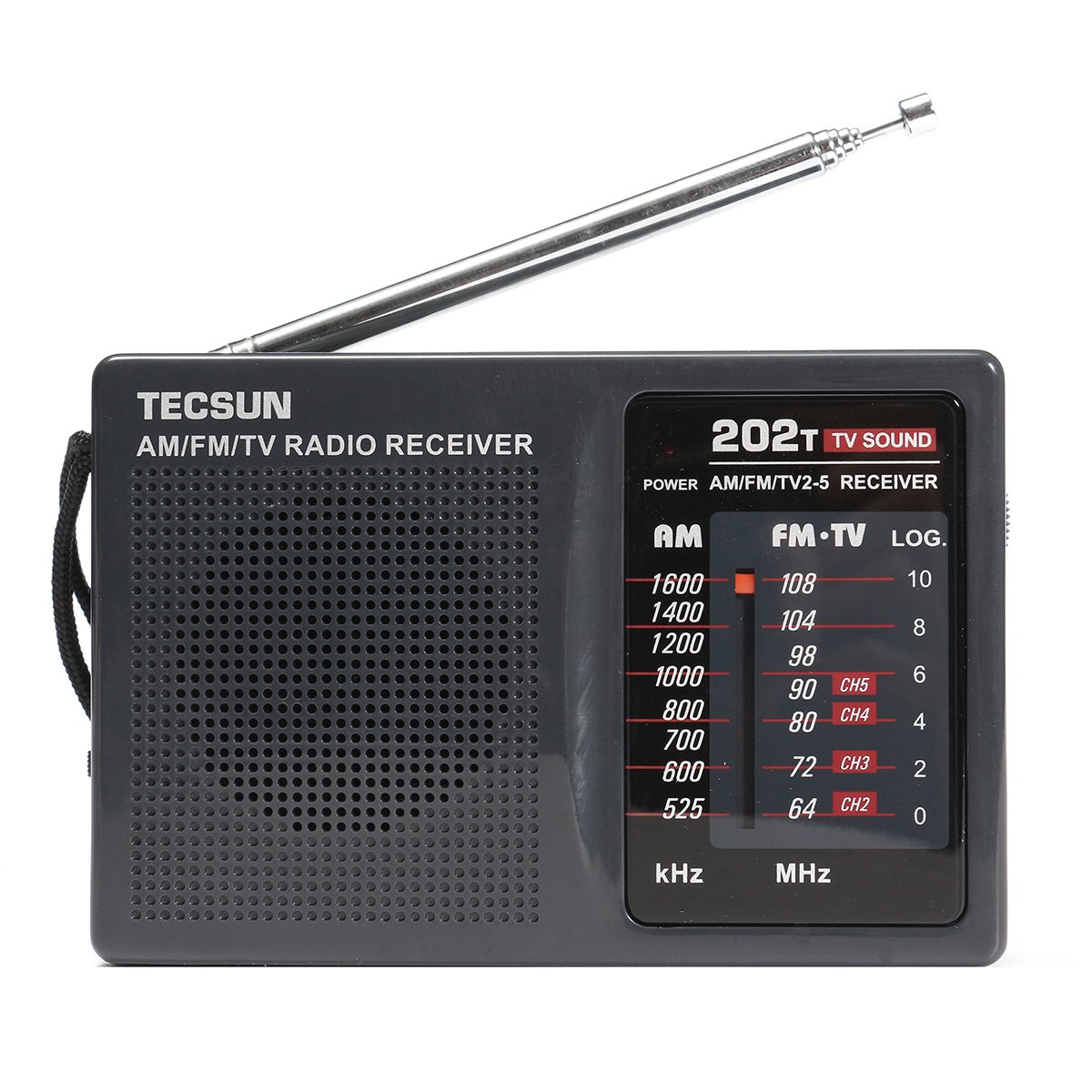 QOJA dc 3v-6v tecsun mini portable radio r-202t fm/am 64-108mhz