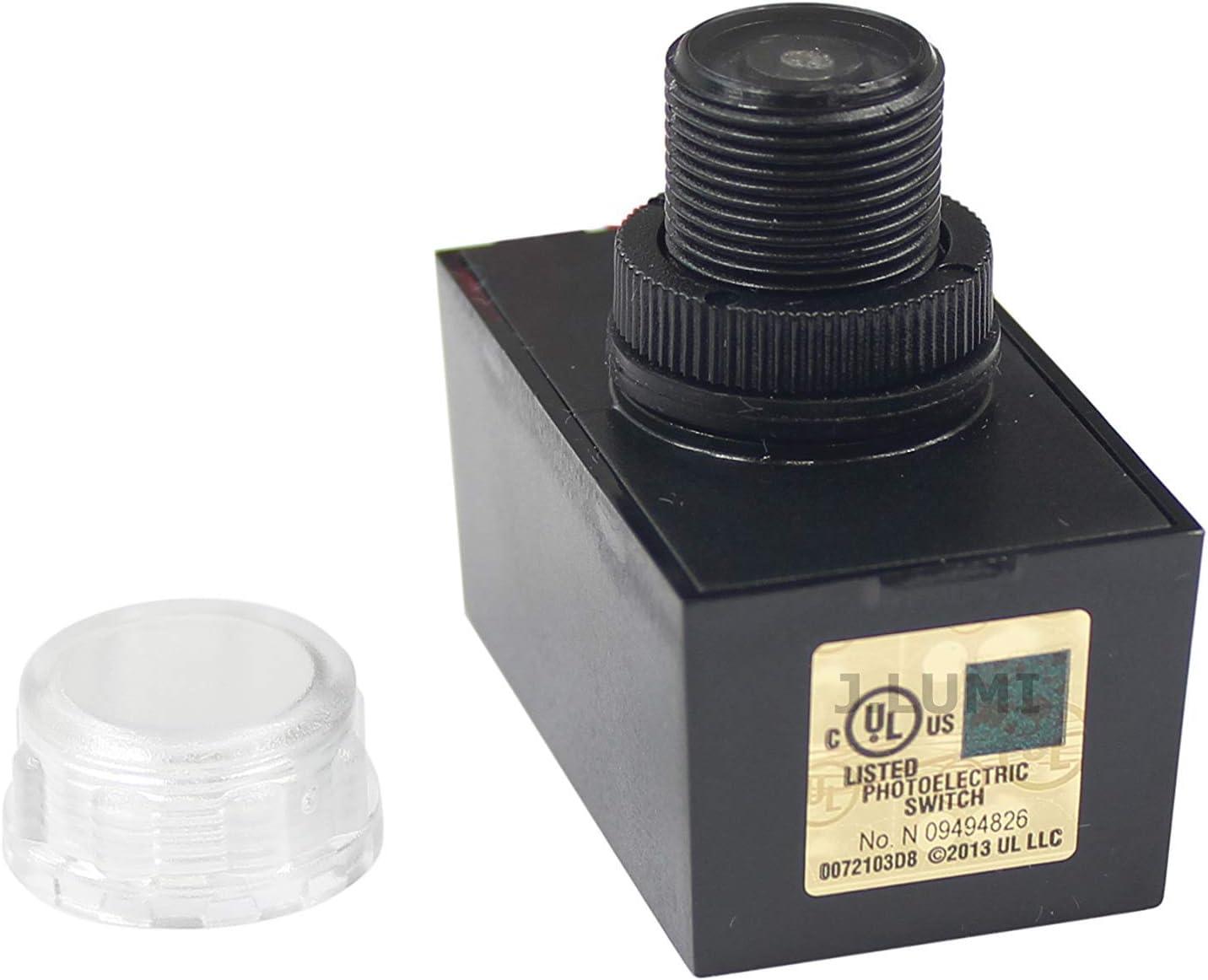 J.LUMI YCA1030 Outdoor Hard-Wired Post Eye Light Control with Photocell Light Sensor Photocell Sensor Dusk to Dawn Light Sensor Photocell for Outdoor Light UL Listed Renewed