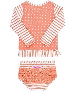 bbee615b4 Amazon.com: RuffleButts Baby/Toddler Girls UPF 50+ Sun Protective ...
