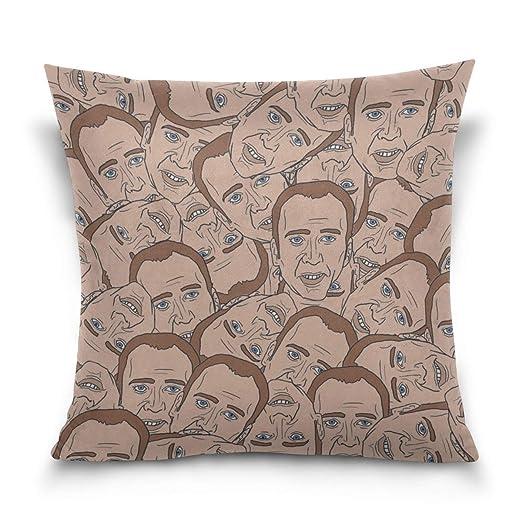 Funda de Almohada Nicolas Cage Texture Portrait Face ...