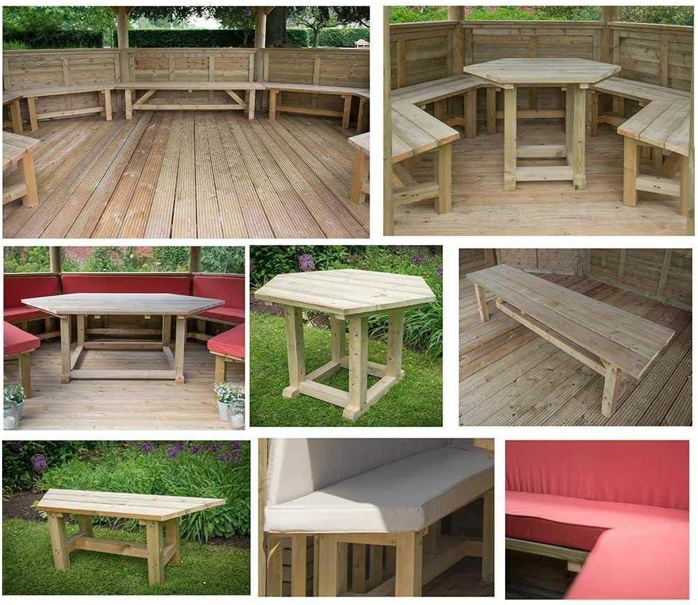 Cenador cuadrado de madera para jardín con techo de cedro de ...