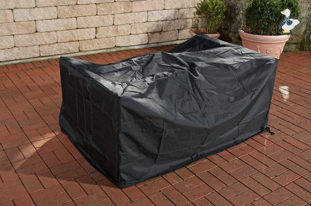 CLP Schutzhülle / Abdeckhaube Poly-Rattan Gartenmöbel, für CLP Sitzgruppe Sandness XL, 360 x 170 x 90 cm