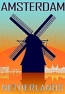 22df41781dd Vintage Travel Poster Holland Amsterdam Poster   Framed   Canvas ...