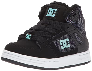 DC Girls' Youth Rebound Wnt High Top Skate Shoes, Multi, 10.5 M US
