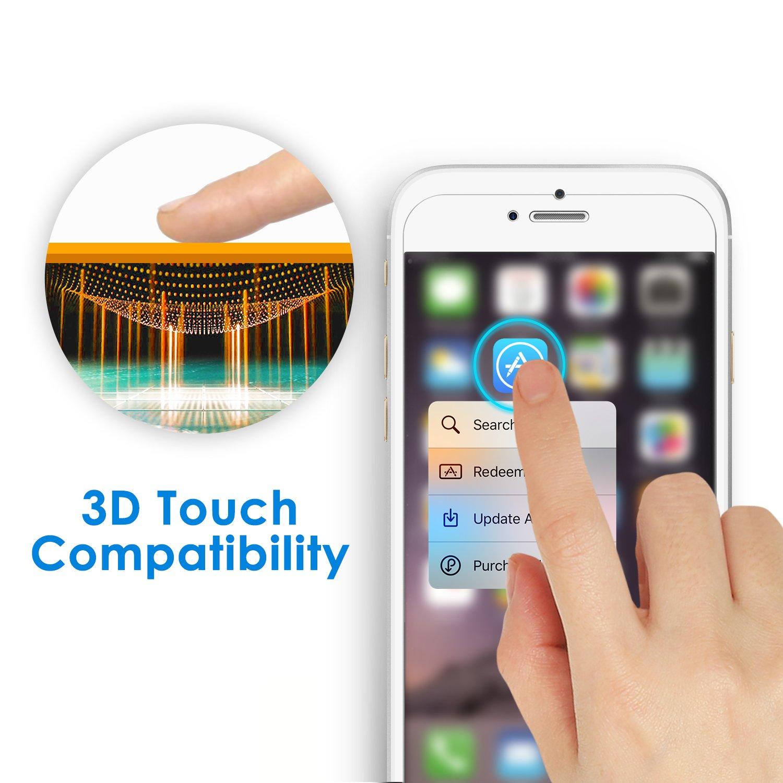 JETech Film de Protection d/écran pour iPhone 6s et iPhone 6 en Verre Tremp/é Lot de 2