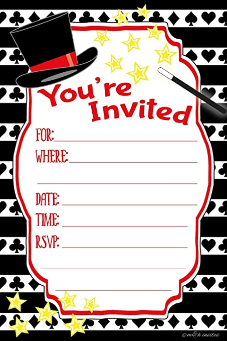 Amazoncom Magic Birthday Party Invitations Fill In Style 20