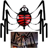 Halloween Decorations Hanging Spider with Balloon for Halloween Party or Haunted House Decorations – 20 Feet