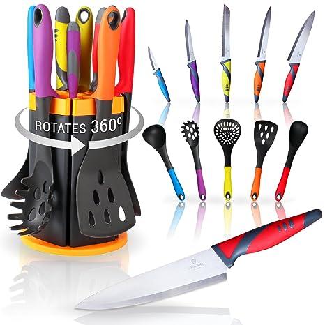 Amazon.com: Cuchillo de cocina y juego de utensilios con ...