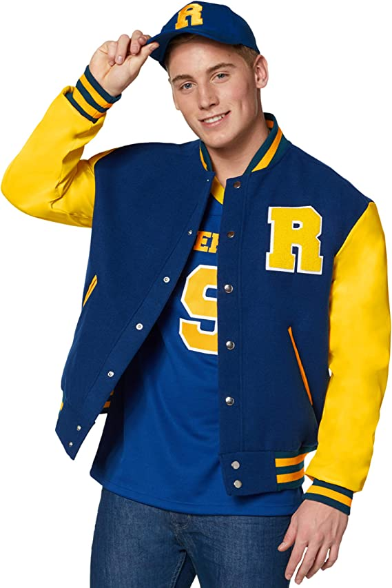 80s Costumes, Outfit Ideas- Girls and Guys Spirit Halloween Archie Comics Riverdale Varsity Jacket | Officially Licensed $49.99 AT vintagedancer.com